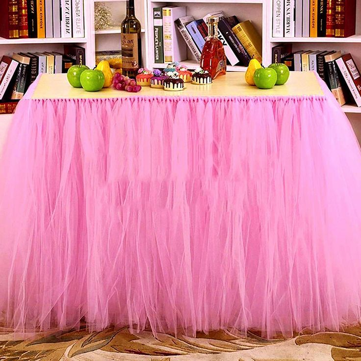 SenHome Tulle Table Skirt Tableware Wedding Party Xmas Baby Shower Birthday Decor