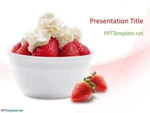 Free Strawberry PPT Template