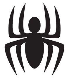 Resultado de imagen para logo de spiderman para colorear