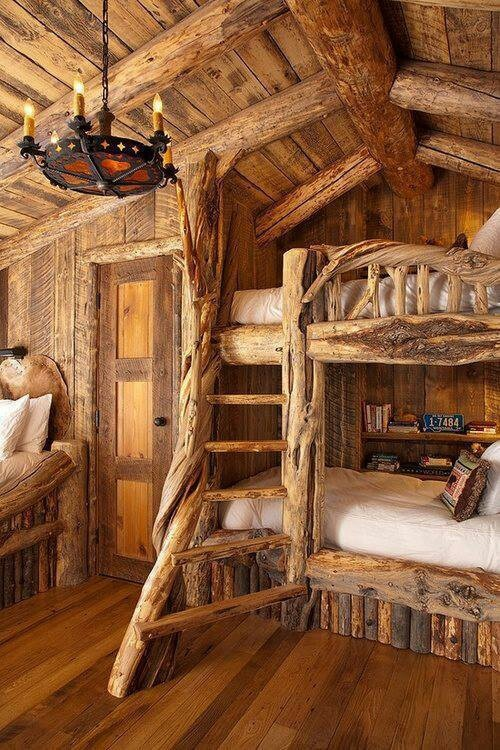 Log Cabin Loft Ideas For Inside Out Pinterest