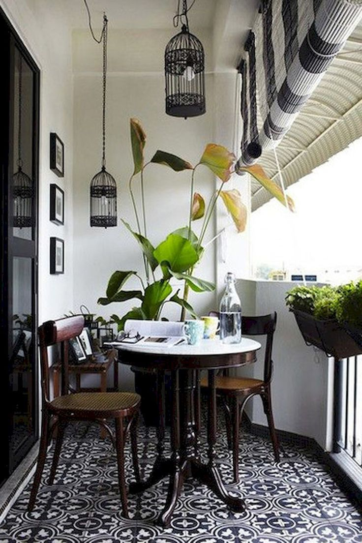 Foldable Table And Chairs Garden Hickory Chair Daybeds The 25+ Best Apartment Balcony Ideas On Pinterest | Small Garden, ...