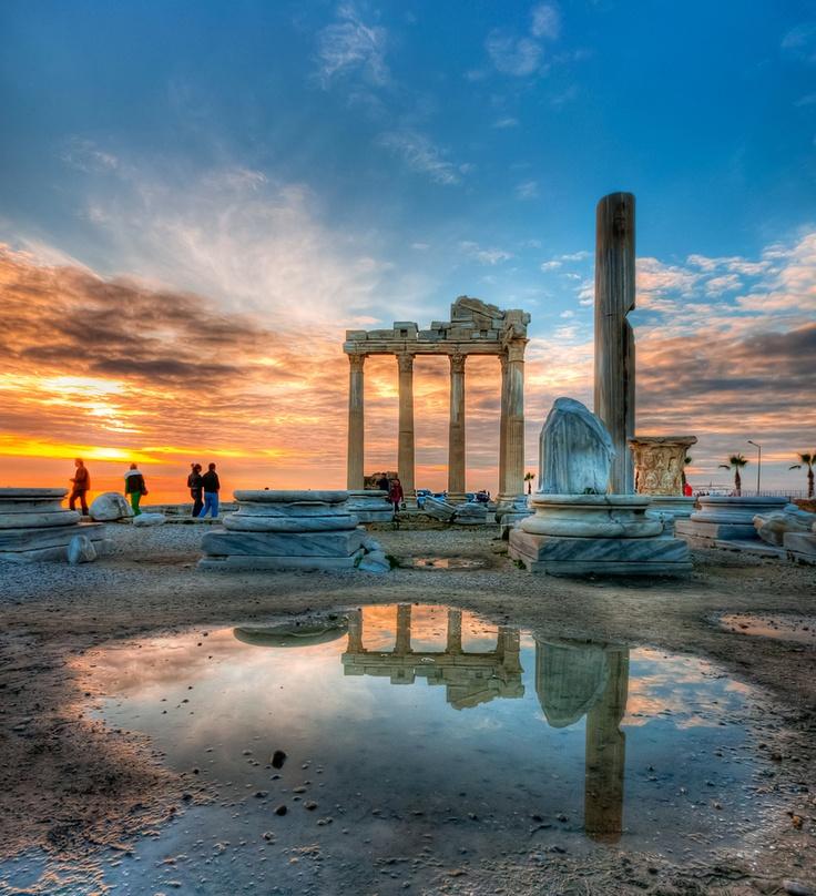 Antalya, Turkey. Awesome sunset in the background.