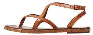 MANGO OUTLET Leather straps sandals