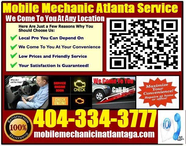 Mobile Auto Mechanic McDonough Georgia Car Repair Service