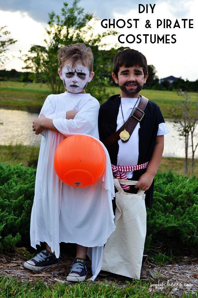 #Costumes #DIY #Ghost #Halloween #Pirate DIY Pirate and Ghost Halloween Costumes