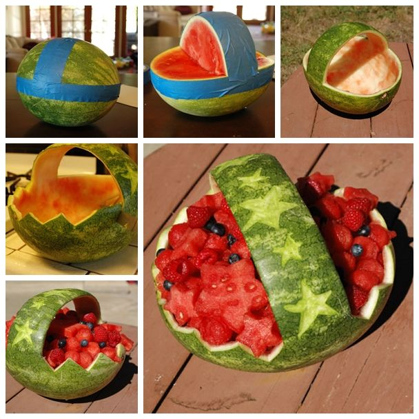 Wonderful DIY Watermelon Basket