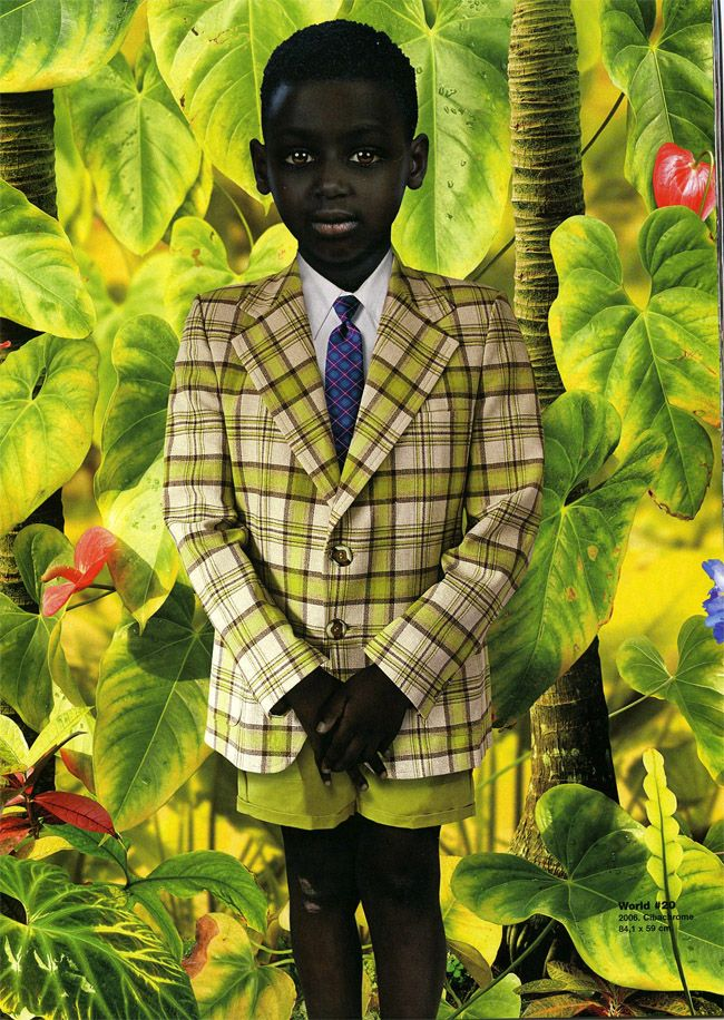 This reminds me of a picture that was taken of my brother... By: Ruud Van Empel 2