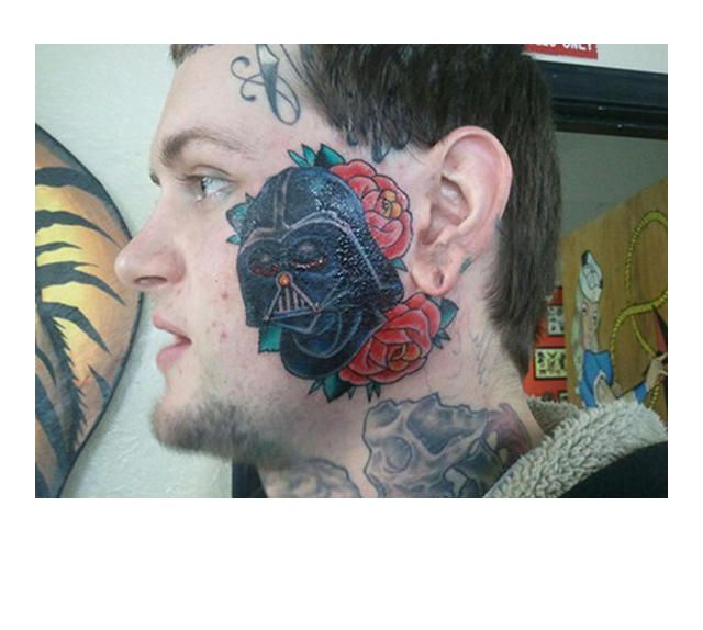 39 Tragically Bad Face Tattoos...I Can't Look Away. (Slide #16) - offbeat