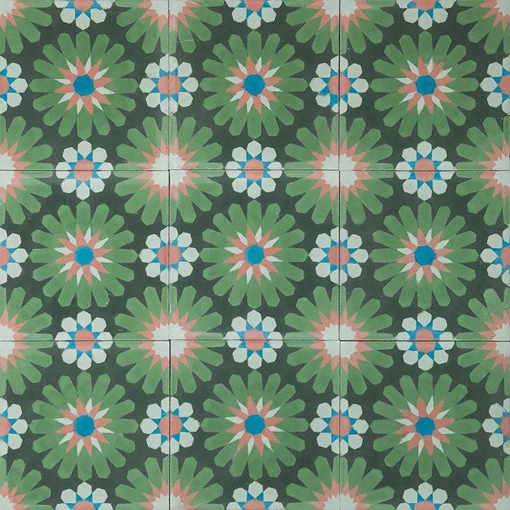 """""""Spring is finally here ☘ and so is Gerbera - sommaräng  #MarrakechDesign #kakel #klinker #fliser #tiles #flooring #handmadetiles #gerbera…"""""""