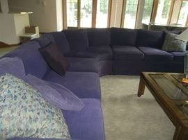 Purple L Shaped Sofa