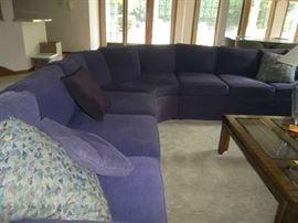 Purple L Shaped Sofa