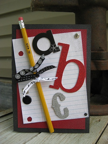 "Send a pencil home with the ""welcome back to school"" card"