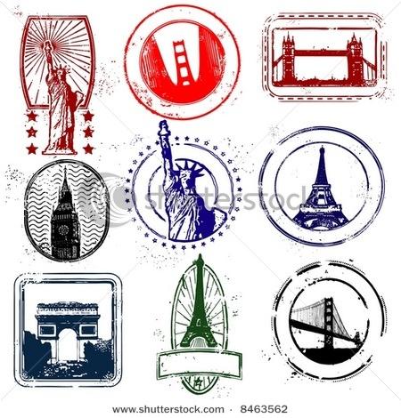 Landmark Travel Stamps