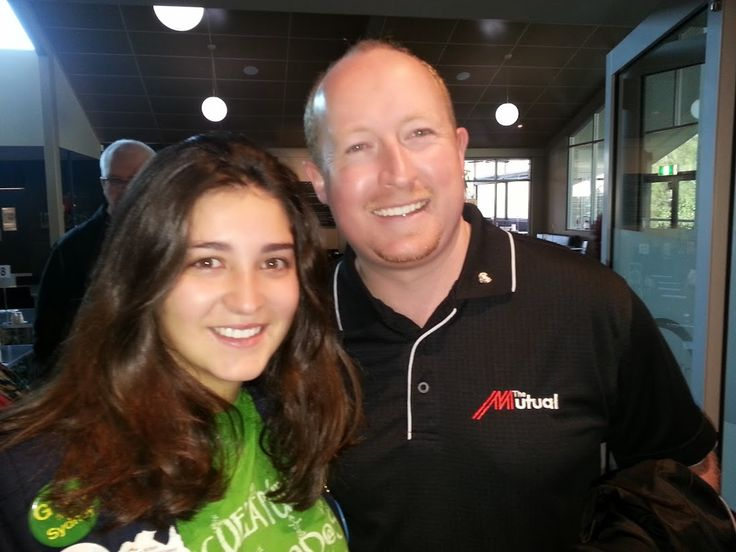 Lucia with President Todd