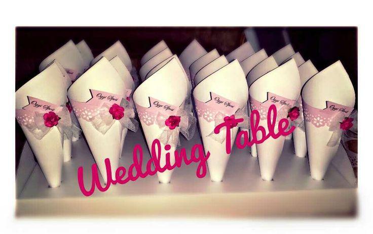 Coni portariso Wedding Table