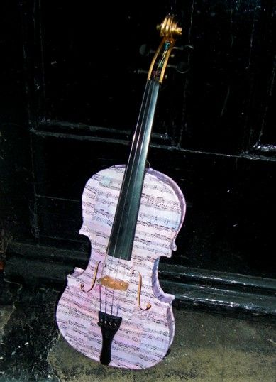 Hand Decorated Full Size Violin by DesignByMishka on Etsy, $245.00