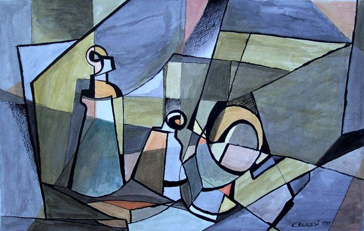 George Braque (1882-1963)  Es el otro gran creador del cubismo junto a Picasso. En L´Estanque, cerca de Marsella descubrió que se pueden simplificar las formas reduciéndolas a prismas y cilindros. Son características sus naturalezas muertas, empleando con frecuencia la guitarra, el violín o la mandolina.