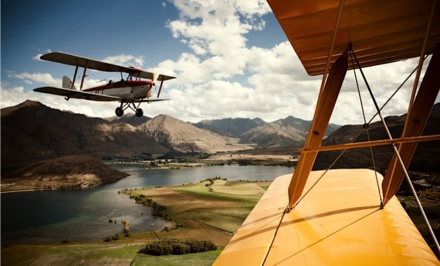 Take a gorgeous scenic Tiger Moth flight with Classic Flights.  Photo by Kieran Scott
