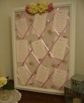 Shabby chic wood framed wedding table plan - I made it!