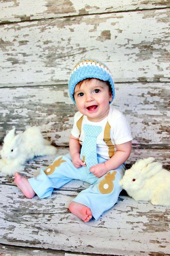 Easter Baby Boys Easter Bunny Knee Patch pants  by shopantsypants konijn Kniestukken kniebeschermers knie elleboog pads kinderen | knee elbow patches pads kids boys girls baby