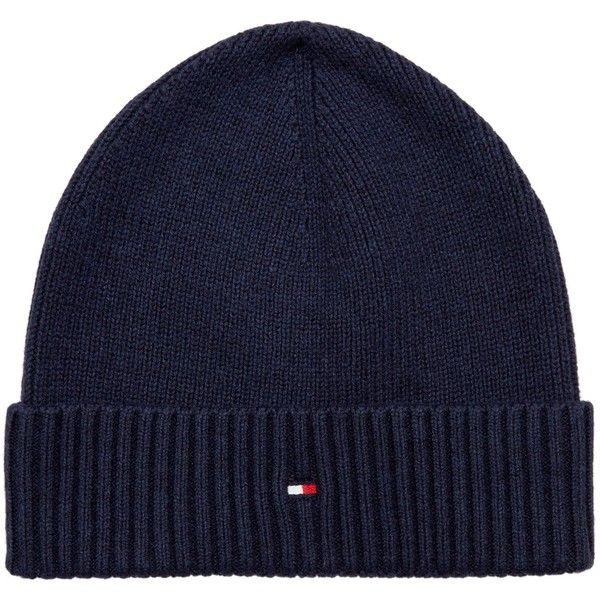 Tommy Hilfiger Pima Cotton Cashmere Beanie ($47) ❤ liked on Polyvore featuring men's fashion, men's accessories, men's hats and mens beanie hats