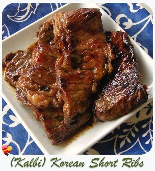 Kalbi recipe or Korean short ribs, so delicious! Get more favorite local style recipe.