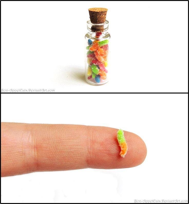 Sour Gummy Worms Bottle Charm by ~Bon-AppetEats