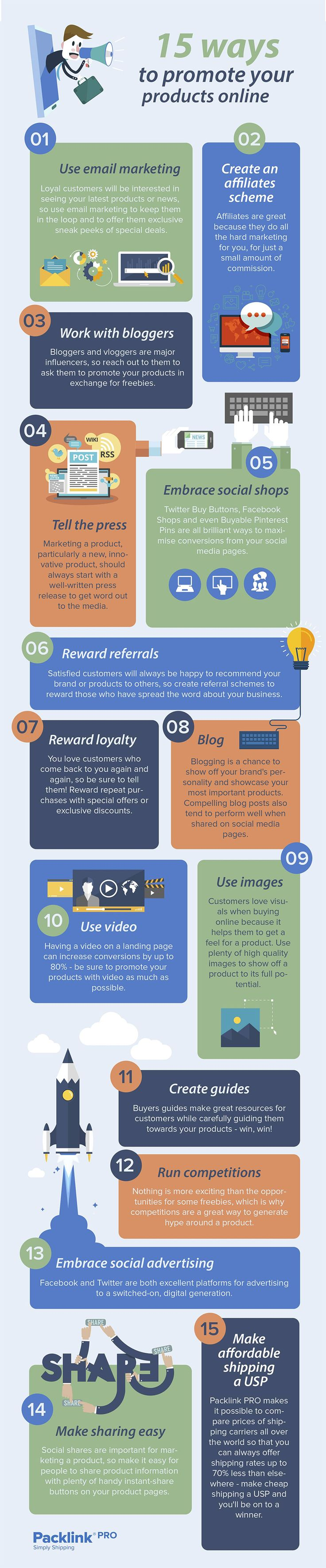 Own an Online Shop? 15 Ways to Promote Your Products Online #Infographic #Ecommerce #Marketing