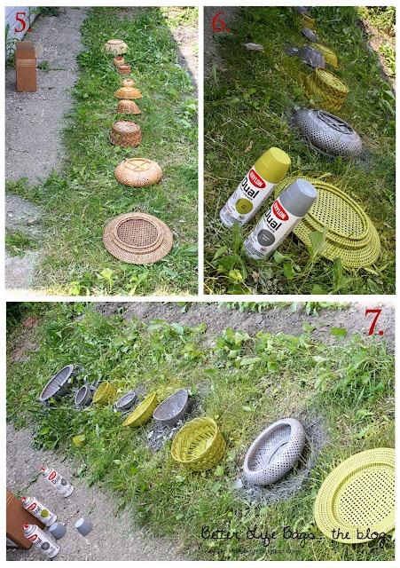 Spray painted baskets! #DIY #HomeDecor