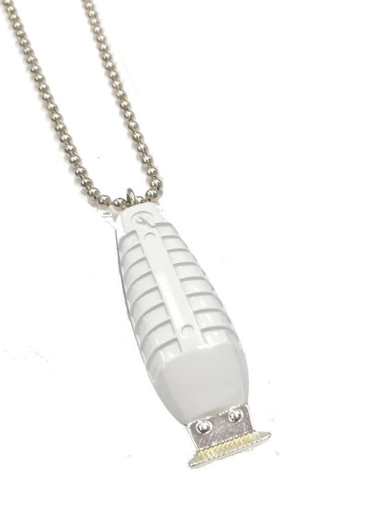 Barber Clipper Necklace T-Liner Style Light Gray