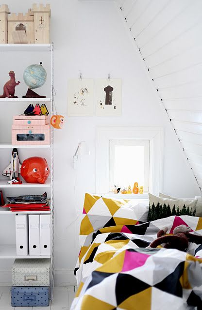Colourful grown up room