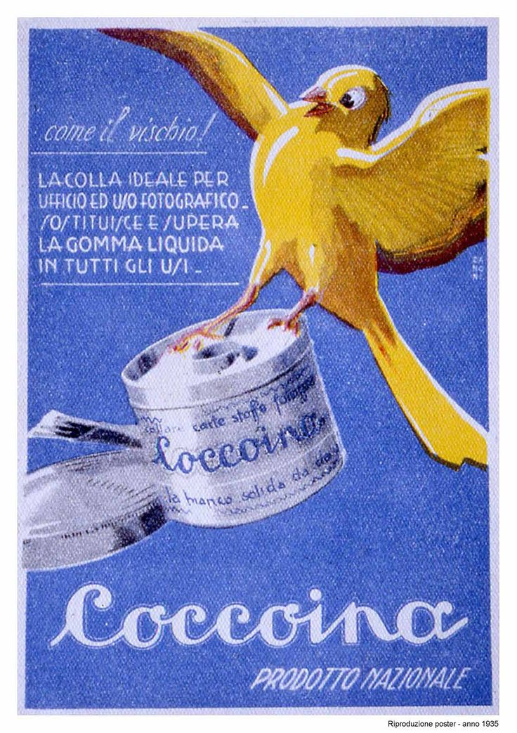 Vintage Italian Posters ~ #illustrator #Italian #posters ~ Old adv of Coccoina