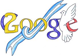 "GOOGLE Art -- ""Argentina Independence Day / Doodle for Google 2010 Winner"" _____________________________ Reposted by Dr. Veronica Lee, DNP (Depew/Buffalo, NY, US)"