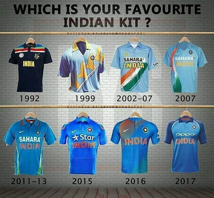 Which is your favourite India Kit ? #Cricket #CricketIndia #indiancricketteam #indiana