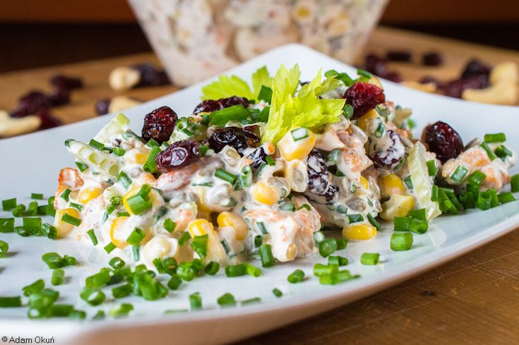 Crunchy and nutritious - chicken salad