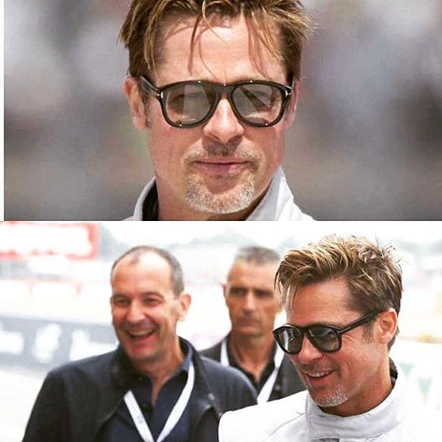 [SEEN ON] La lunette #7 de la Private Collection Tom Ford portée par Brad Pitt au top départ des 24h du Mans ! Cette superbe collection met à l'honneur la véritable corne de buffle. Un travail d'orfèvre à découvrir en exclusivité au 104. #lunettes #eyewear #tomford #fashion #summer #sunglasses #opticien #lyon #mode
