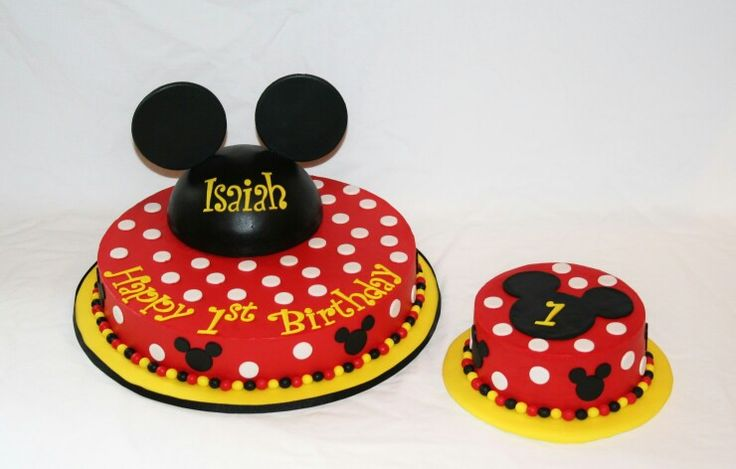 Mickey Mouse Smash Cake: Mickey Mouse Cake And Smash Cake -TGI Cakes
