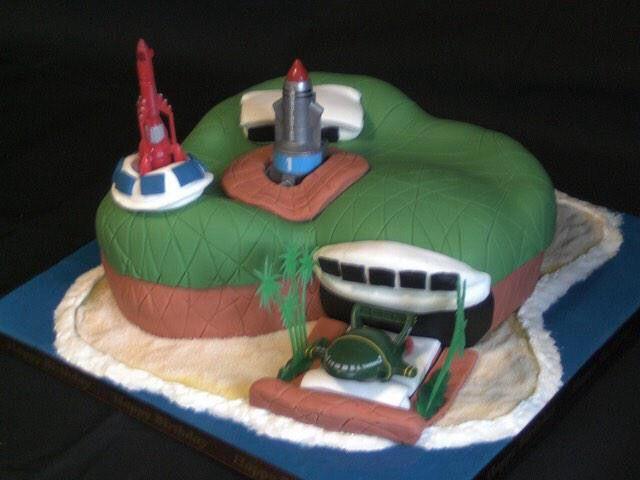 Tracy Island Cake.