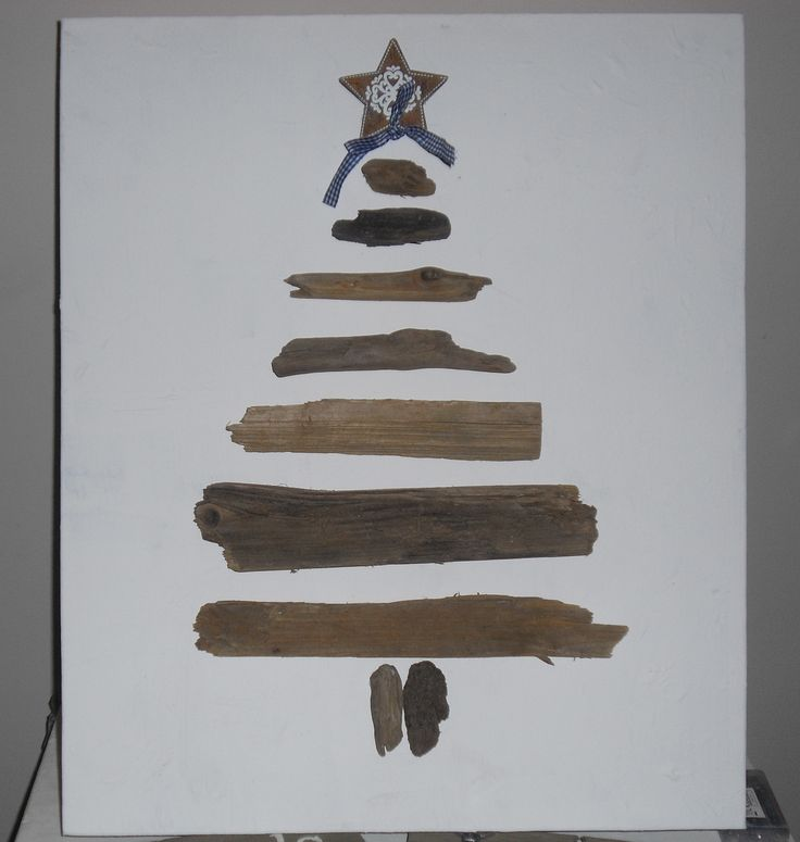 Kerstboom van drijfhout op canvas doek GoedHartMaakt! https://www.facebook.com/goedhart.maakt