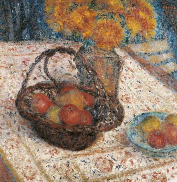 George Morren (Belgian, 1868-1941), Le panier de pommes [The basket of apples], 1914. Canvas, 58 x 57cm.