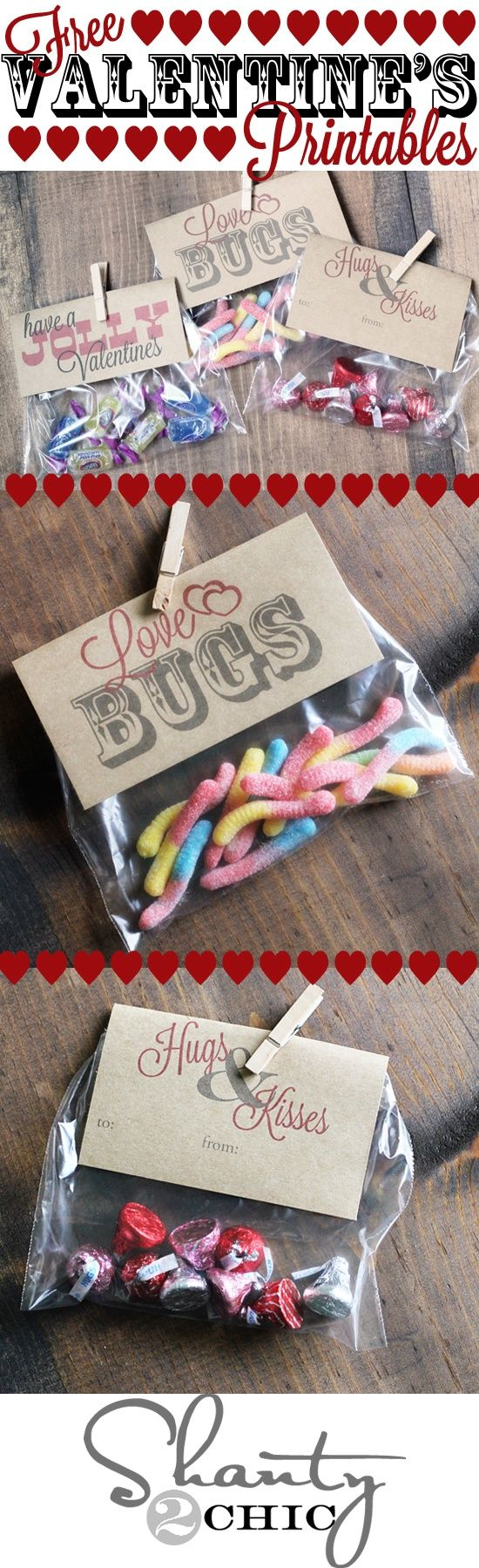 Valentine treat topper free printable