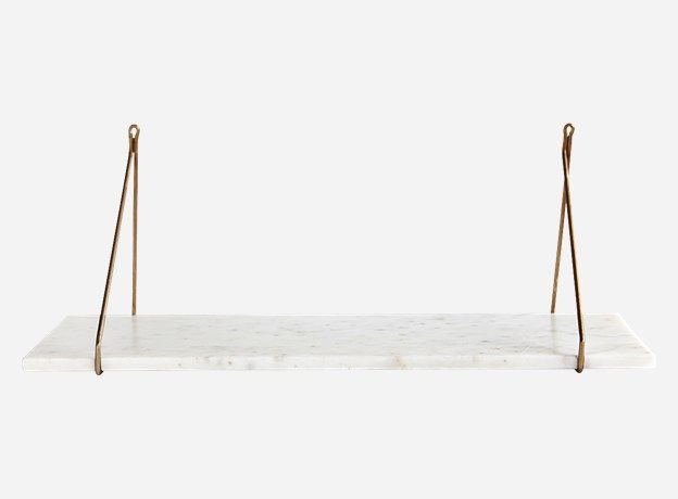 Sa0900 - Shelf, Marble, White marble, 24x70 cm, Without brackets