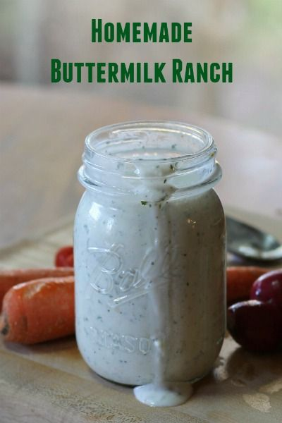 Easy Homemade Buttermilk Ranch Dressing! Save money with this simple homemade…