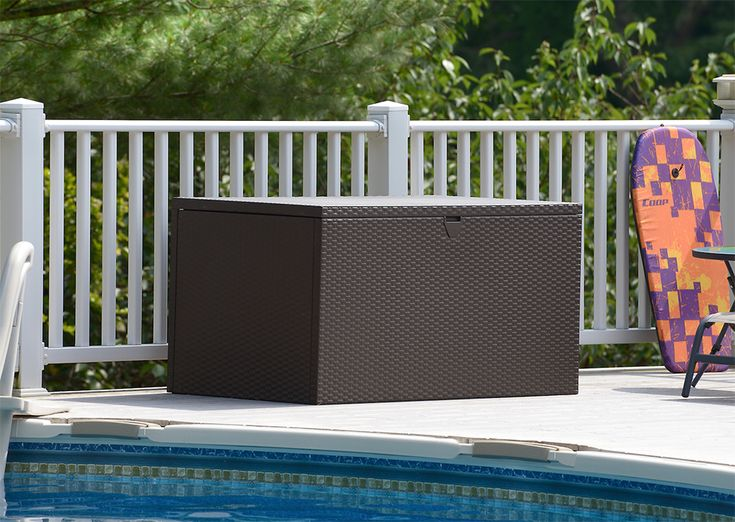 The perfect indoor and outdoor storage unit: meet the Spacemaker Deck Box, a stylish and functional storage bin, patio storage and indoor storage chest.