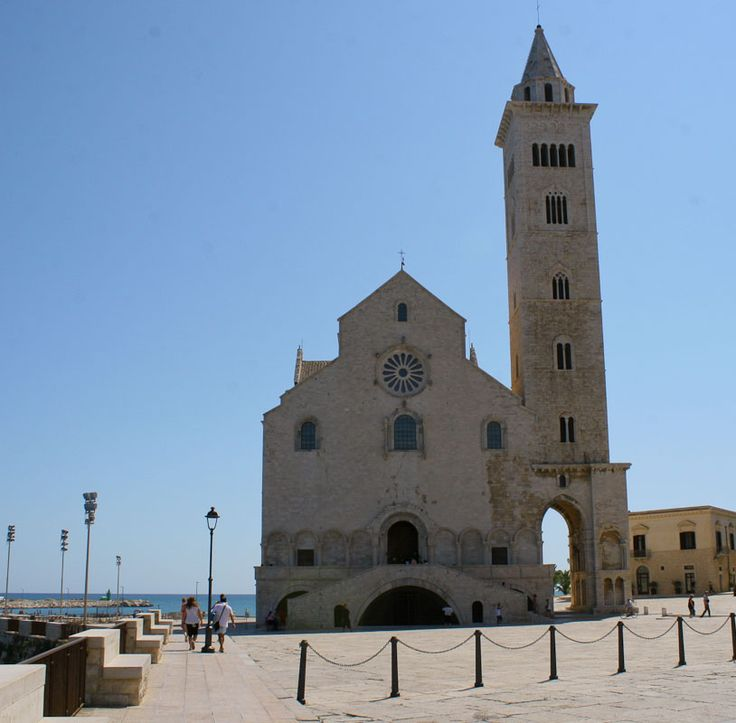 The three-in-one cathedral in the town Trani in Italy.