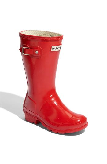 For Abby when her father drags her to the muddy woods. Hunter 'Original Gloss' Rain Boot (Little Kid & Big Kid) available at #Nordstrom