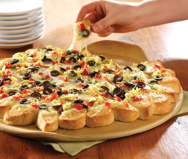 Pull-apart pizza - great appetizer!