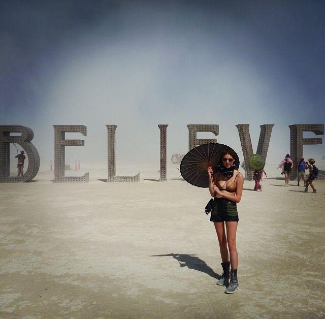Leatherette Star Military Shorts at Burning Man