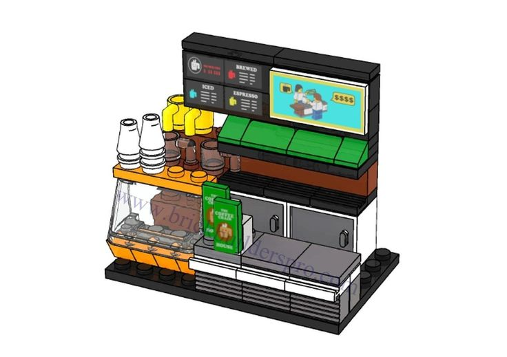 LEGO Coffee Shop Interior
