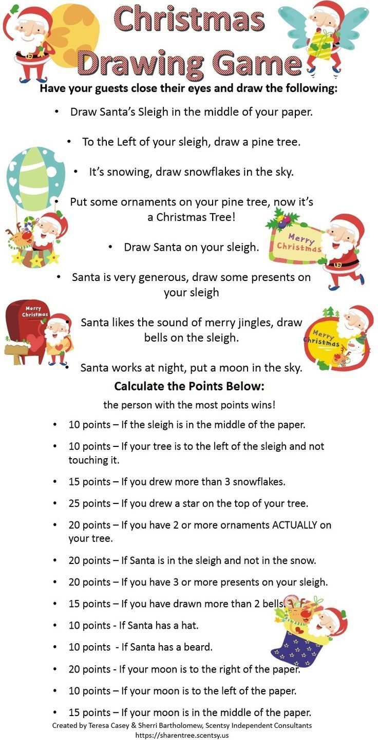 Christmas Themed Blind Drawing Game. Good for Fall/Winter themed Scentsy Christmas Parties, or baby showers, wedding showers, etc. https://sharentree.scentsy.us